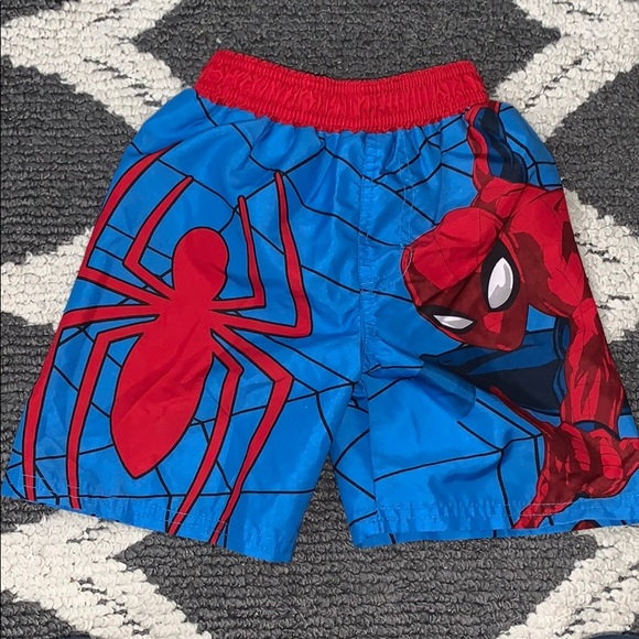 Marvel Ultimate Spider-Man Toddler Boys Swimming Trunks Size 2T 3T NWT